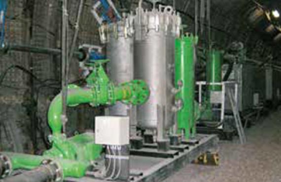 Pump station, media supply, longwall hydraulics