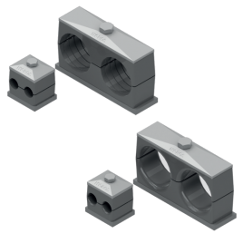 Clamps to DIN 3015 - Twin