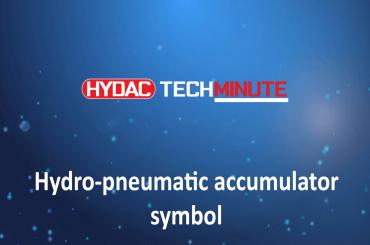 HYDAC TechMinute: Hydro-pneumatic accumulator symbol